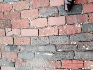 Bricks in front of Angie's List corporate offices